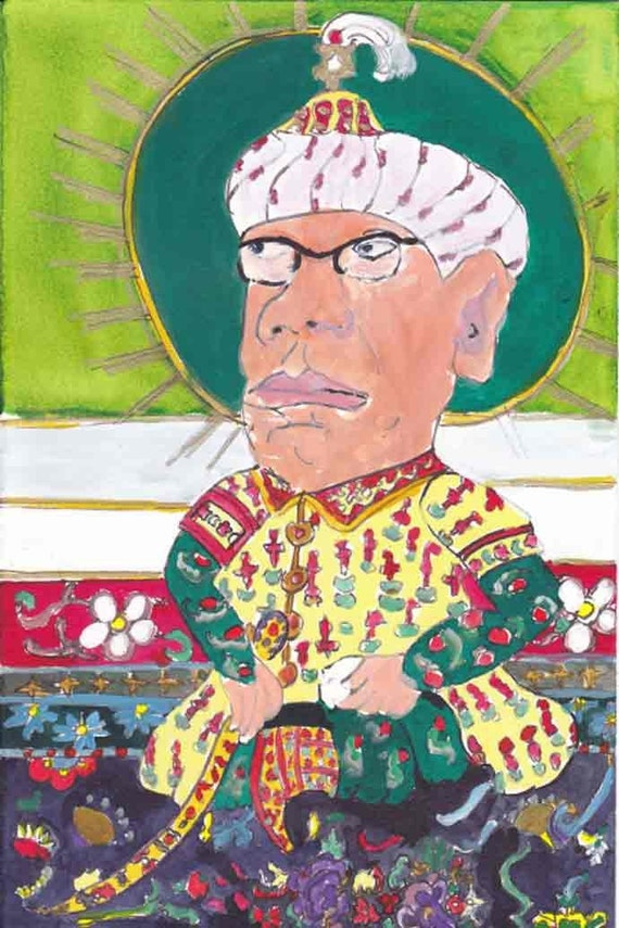 Self-portrait in homage to Khalili family