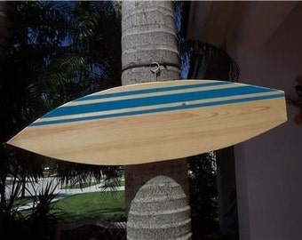 Tropical Custom Personalized Wood Surfboard Wall Decor