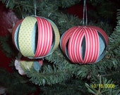 Christmas Tree ornaments Paper globe Rustic