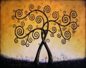 Tree art print ... Tree of Life, 8 x 10 Glossy Giclee Print -- Intertwined