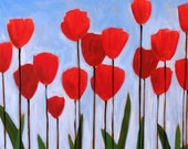 Red tulips art print ... Red Tulips -- 8 x 10 giclee from my original painting