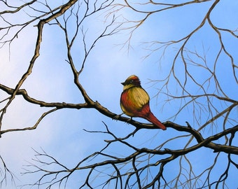 Bird art print ...The Lookout -- 8 x 10 Glossy Print, from my original painting