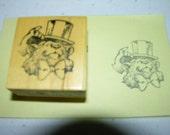 Vintage  Bear Rubber Stamp