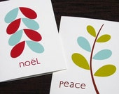 Peace and Noel Printable Holiday Greetings