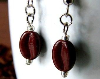Coffee Bean Earrings - Columbian Coffee Cuties
