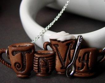 Java Junkie Miniature Coffee Mug Necklace with Spoon