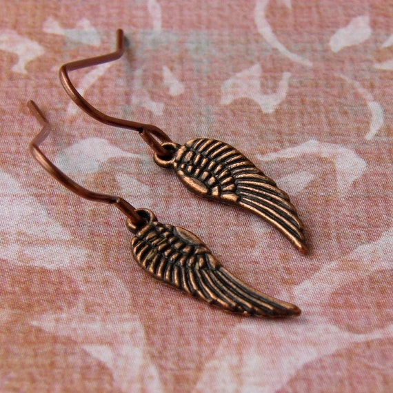 Dainty and Delicate Angel Wing Earrings