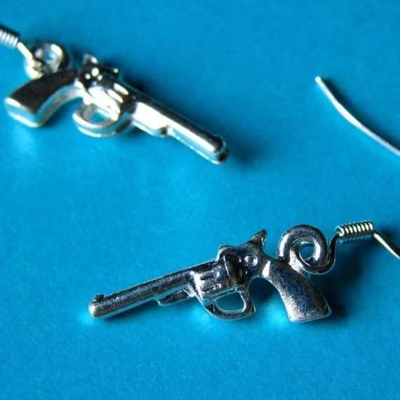 Tiny Pistol Earrings - Smokin Guns