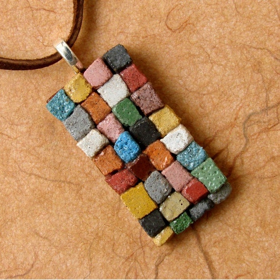 The Patchwork Quilt Mosaic Pendant - A Dirt Road South Exclusive