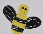 Bella the bumblebee appliqued onesie 6-9 month size