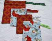 Eco Friendly Reusable Cloth Holiday Gift Bags- Set of 4