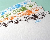 Felicia notecards - set of 12 flat notes and envelopes