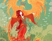Goddess of the Phoenix 8x10 art print