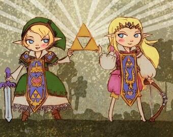 Prince Zelda and Lady Link