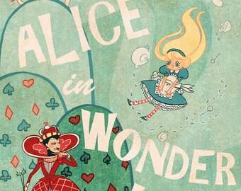 Alice in Wonderland Lit poster 12x18