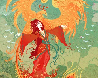 Goddess of the Phoenix 8x10 art print