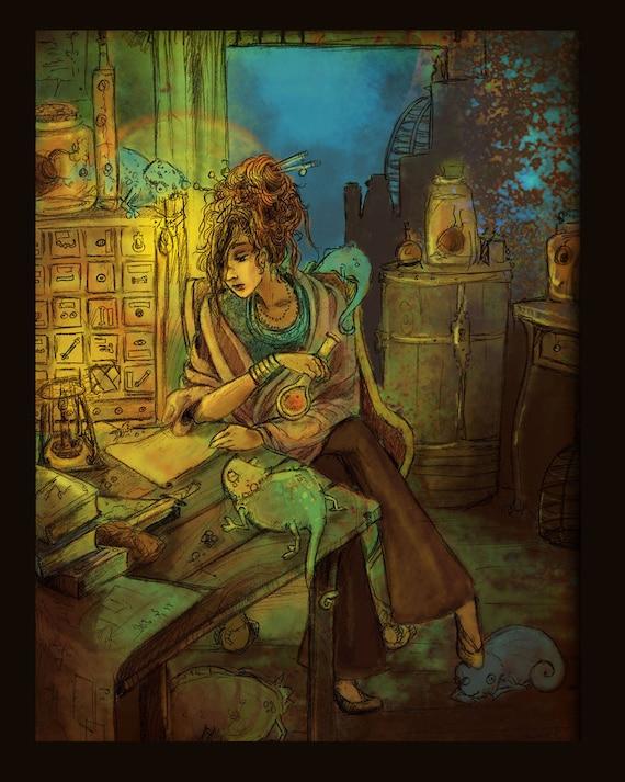 Midnight in the Laboratory 8x10 art print