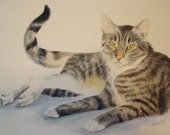 Custom Pet Portraits in Watercolor, 8x10 from your photo, Free Shipping