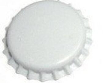 50 White Bottlecaps Bottle Cap Bottlecap Caps Colored Blank Embellishment Christmas Craft