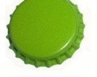 50 Lime Green Bottlecaps Bottle Cap Bottlecap Caps Embellishment Craft Blank