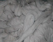 Romeldale\/CVM Wool Roving, Combed Top, Silver\/Gray