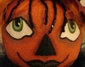 Primitive Folk Art Halloween Pumpkin Doll-Alyssa ( Take Order to Create Similar Doll)