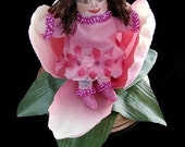 Thumbelina In a Flower-Mini Art Doll-(Made to Order by Request)