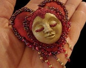 Heart Doll Pin-Art Doll OOAK-(Take Orders to create similar pin by request)