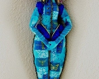 Turquoise Spirit Doll-Ooak  (MADE TO ORDER)