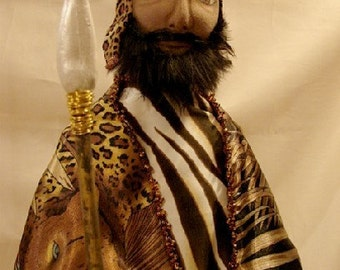 Art Doll-African Chieftan-OOAK-22 inches ( Made to Order by request)