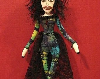 Art Doll-OOAK-Female Vampire Doll-VAMPIRA (Made to Order by Request)