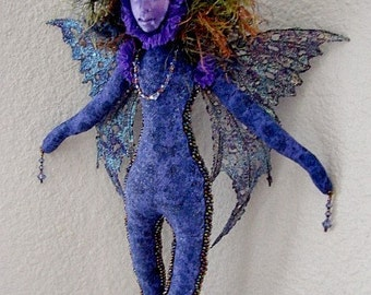Art Doll-Purple and Lavendar Fairy Spirit Doll-(Made to Order Similar Doll by Rquest)