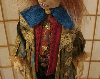 The Mad Hatter-Art Doll OOAK-Alice In Wonderland Doll  ( Made by Request)