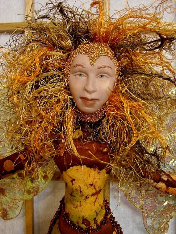Art Doll Spirit-Autumn-OOAK-(Similar Doll Made by Request)