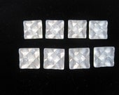 Geometric Square White Translucent Buttons