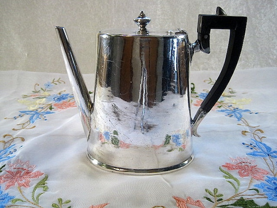 Silver QuadPlate E.G. Webster & Sons Teapot/Coffeepot - New York and Brooklyn.