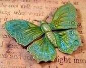 Large Verdigris Patina Brass Butterfly(1)-VPS3320..
