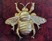 Large Raw Brass Bee(1)-FFA9072.