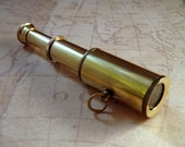 Brass Steampunk Collapsing Telescope Charm(1)-L550