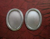 25x18mm Oxidized Silver Setting NO RING(2)-BT21634.