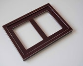 MULTI 2 Opening 5x7 distressed pine collage picture frame with the 5x7's in the portrait position...java brown...HANDMADE