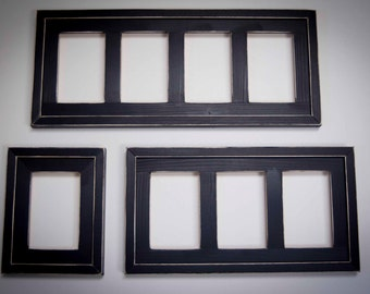Collage Picture Frame - Picture frame collection...including 1) multi 4 opening 4x6, 1) multi 3 opening 4x6, and 1) single opening 4x6