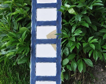 MULTI 8 Opening 4x6 distressed pine collage picture frame with the 4x6's in the portrait position...midnight blue...HANDMADE