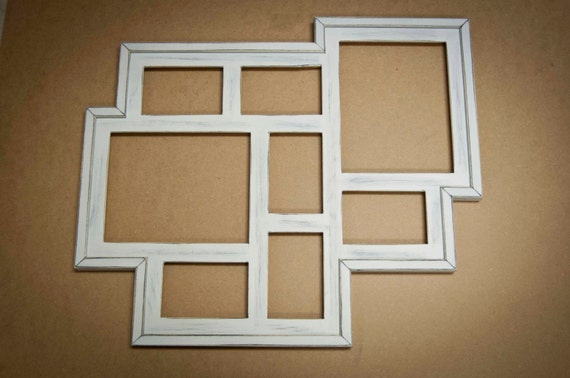 collage picture frame multi 8 opening distressed rustic collage picture frame with 2 8x10s