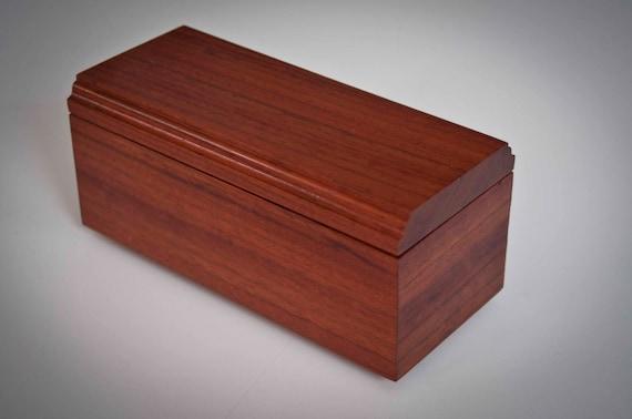Handmade wood jewelry / keepsake box made out of brazilian cherry hardwood