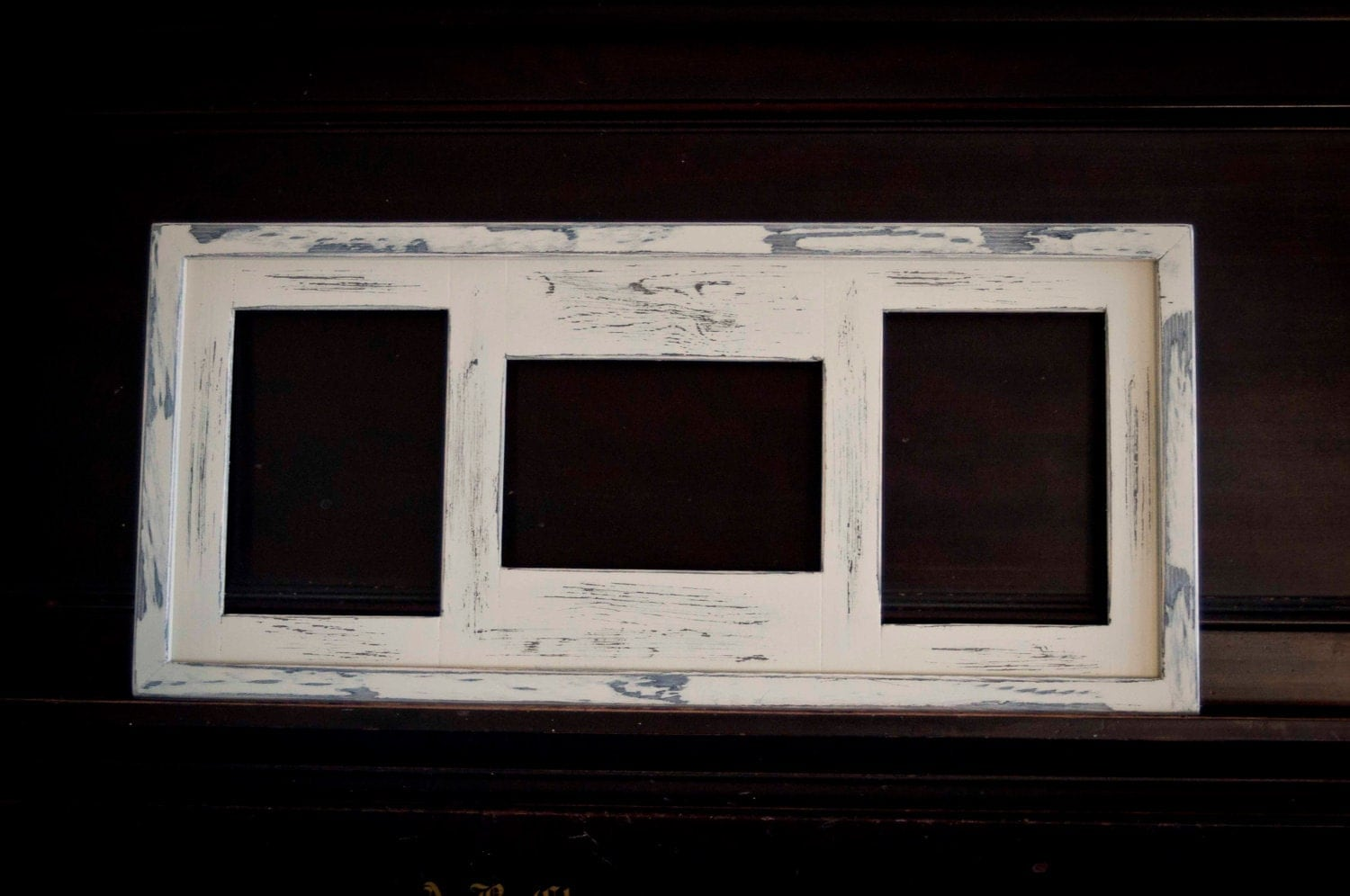 collage picture frame multi 3 opening 5x7 distressed collage. Black Bedroom Furniture Sets. Home Design Ideas