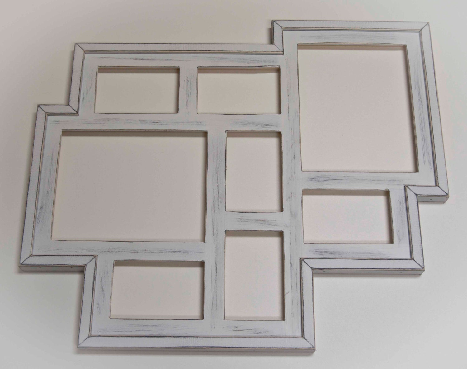Collage Picture Frame Multi 8 Opening Distressed Rustic