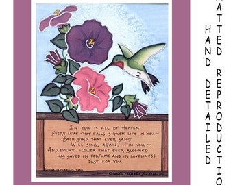 All of Heaven - 8x10 Dye Painting Print on 11x14 Mat Board - Free Shipping USA