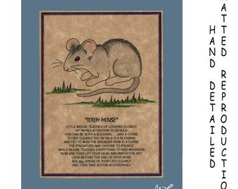 TOTEM MOUSE - Totem Animal Print on 5x7 Mat Board - Free Shipping Continental USA