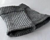 Steel Gray Men's Fingerless Gloves